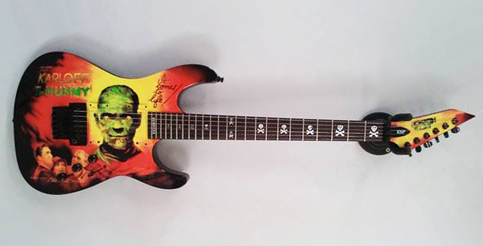 CUSTOMISATION d'une LTD en KH MUMMY KARLOFF KIRK HAMMETT