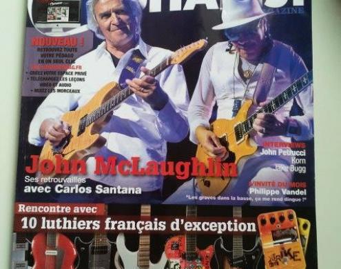 Photo sur 01/11/2013 :  Article dans GuitaristMagazine sur Dsc et le modèle Dsc Sillyah S